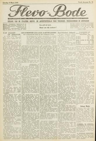 Flevo-bode: nieuwsblad voor Wieringen-Wieringermeer 1949-03-19