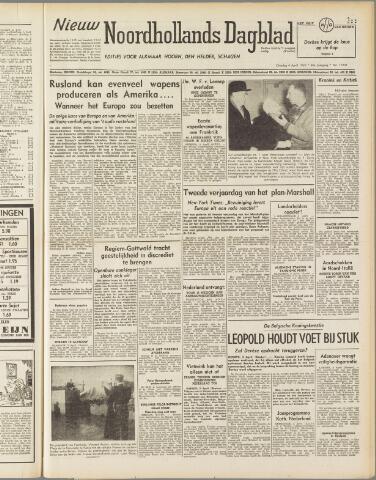 Nieuw Noordhollandsch Dagblad : voor Alkmaar en omgeving 1950-04-04