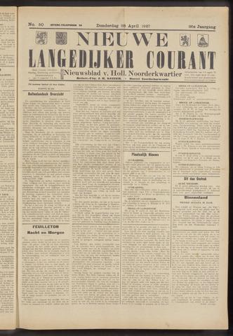 Nieuwe Langedijker Courant 1927-04-28