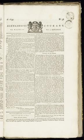 Alkmaarsche Courant 1839-09-09
