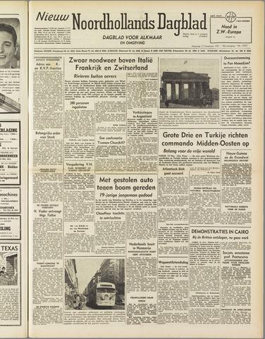 Nieuw Noordhollandsch Dagblad : voor Alkmaar en omgeving 1951-11-12