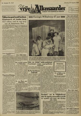 De Vrije Alkmaarder 1947-08-30