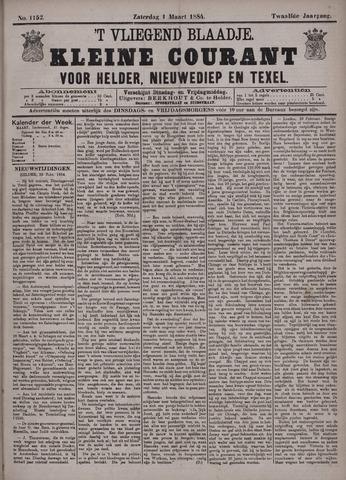 Vliegend blaadje : nieuws- en advertentiebode voor Den Helder 1884-03-01