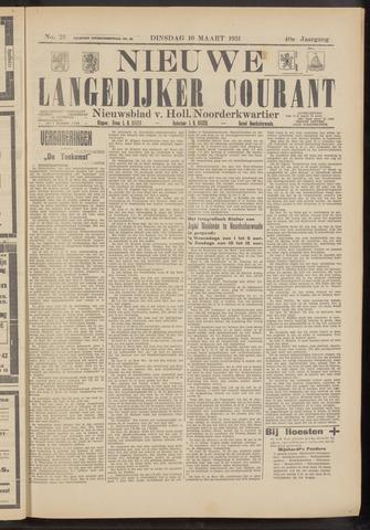Nieuwe Langedijker Courant 1931-03-10