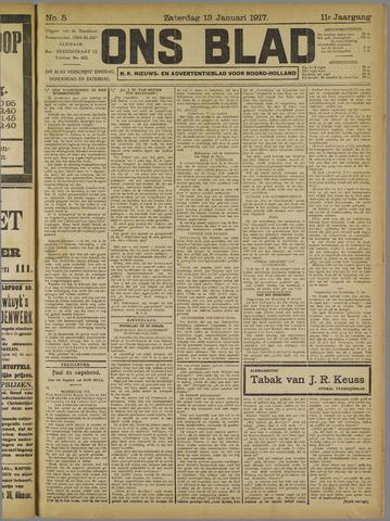 Ons Blad : katholiek nieuwsblad voor N-H 1917-01-13