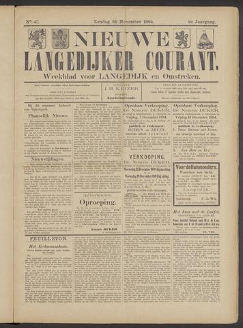 Nieuwe Langedijker Courant 1894-11-25