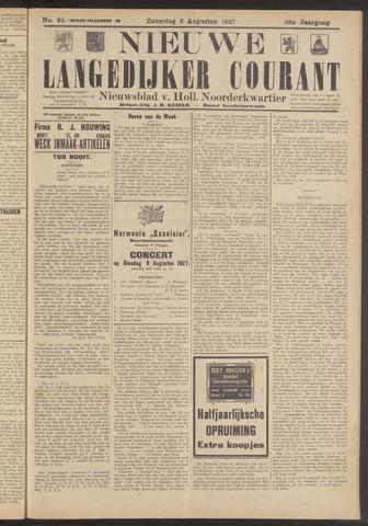 Nieuwe Langedijker Courant 1927-08-06