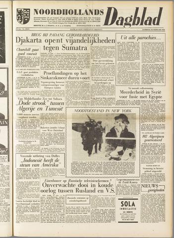 Noordhollands Dagblad : dagblad voor Alkmaar en omgeving 1958-02-22
