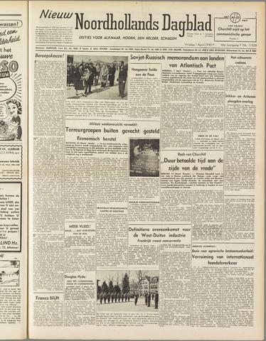 Nieuw Noordhollandsch Dagblad : voor Alkmaar en omgeving 1949-04-01
