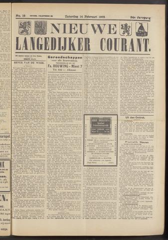 Nieuwe Langedijker Courant 1925-02-14