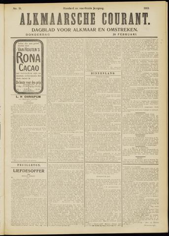 Alkmaarsche Courant 1912-02-29