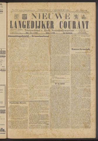 Nieuwe Langedijker Courant 1929-12-05