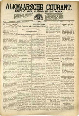 Alkmaarsche Courant 1937-02-18