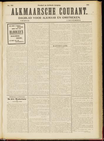 Alkmaarsche Courant 1911-11-03