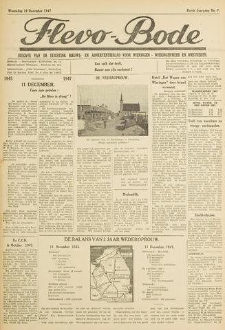 Flevo-bode: nieuwsblad voor Wieringen-Wieringermeer 1947-12-10