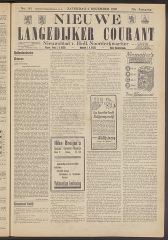 Nieuwe Langedijker Courant 1930-12-06