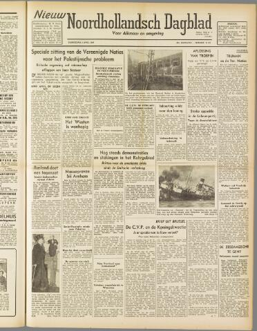 Nieuw Noordhollandsch Dagblad : voor Alkmaar en omgeving 1947-04-03