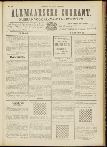 Alkmaarsche Courant 1909-02-26