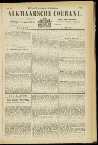 Alkmaarsche Courant 1893-03-17