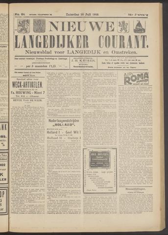 Nieuwe Langedijker Courant 1925-07-18