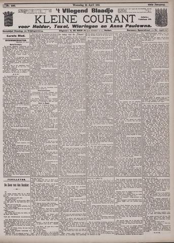 Vliegend blaadje : nieuws- en advertentiebode voor Den Helder 1912-04-24