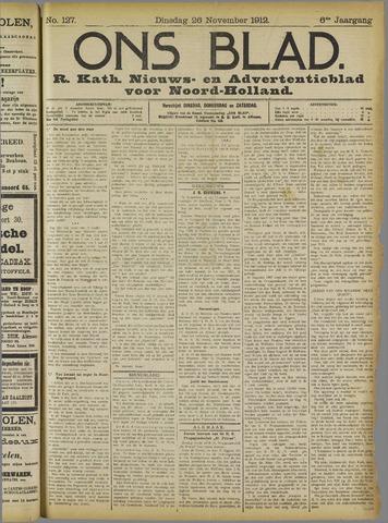 Ons Blad : katholiek nieuwsblad voor N-H 1912-11-26
