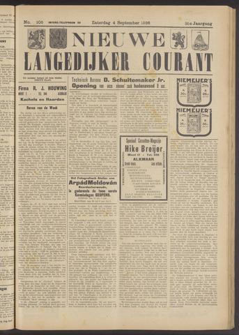 Nieuwe Langedijker Courant 1926-09-04
