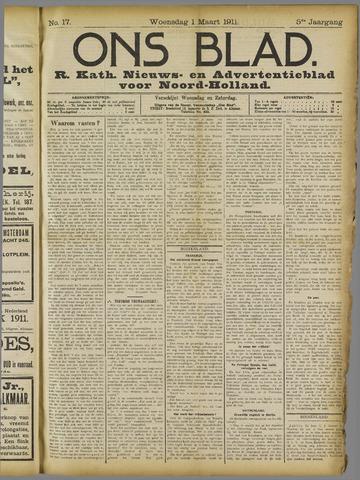 Ons Blad : katholiek nieuwsblad voor N-H 1911-03-01