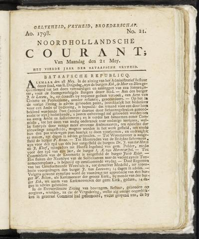 Noordhollandsche Courant 1798-05-21