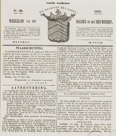 Weekblad van Den Helder en het Nieuwediep 1847-07-19