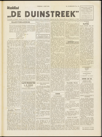 De Duinstreek 1954-07-02