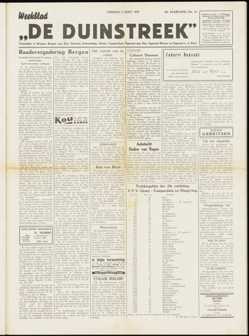 De Duinstreek 1957-09-06