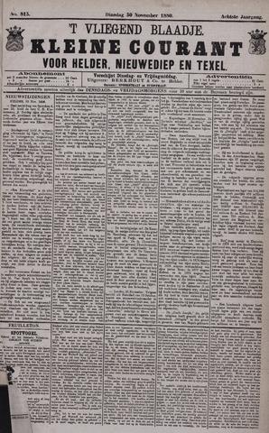 Vliegend blaadje : nieuws- en advertentiebode voor Den Helder 1880-11-30