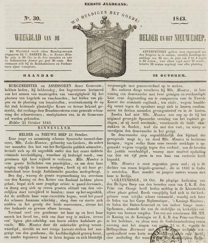 Weekblad van Den Helder en het Nieuwediep 1843-10-23