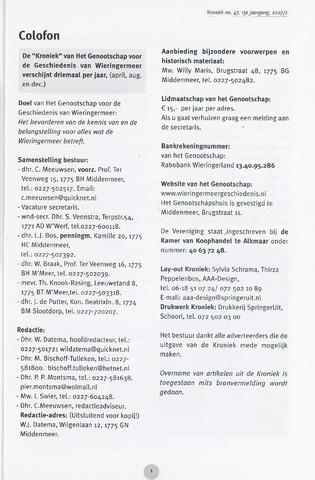 Kroniek Historisch Genootschap Wieringermeer 2007-08-01