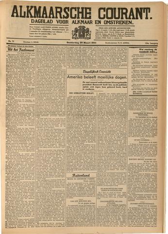 Alkmaarsche Courant 1934-03-29
