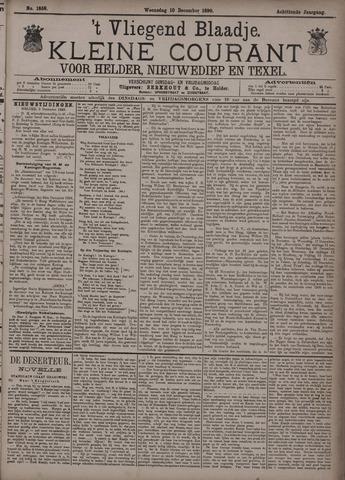 Vliegend blaadje : nieuws- en advertentiebode voor Den Helder 1890-12-10