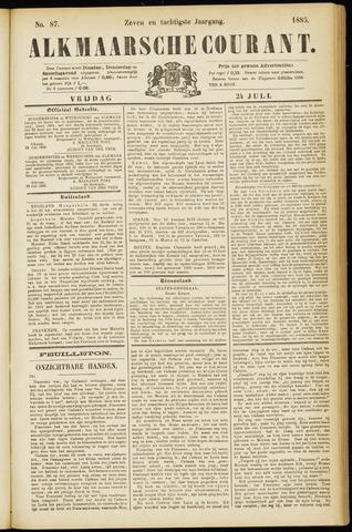 Alkmaarsche Courant 1885-07-24