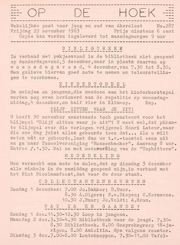 Op De Hoek, weekblad voor Akersloot 1963-11-29