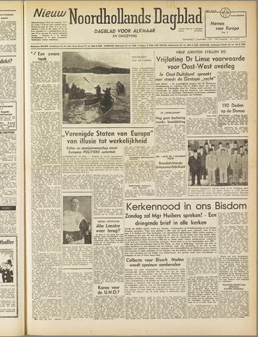 Nieuw Noordhollandsch Dagblad : voor Alkmaar en omgeving 1952-09-11