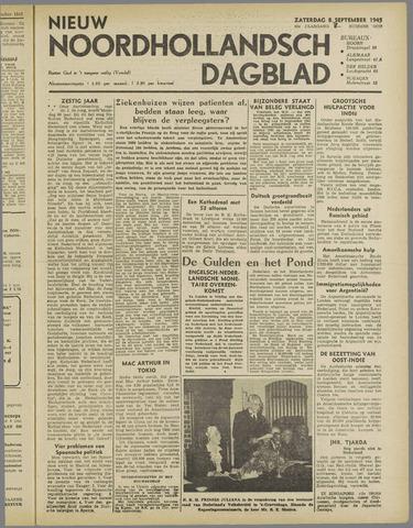 Nieuw Noordhollandsch Dagblad : voor Alkmaar en omgeving 1945-09-08