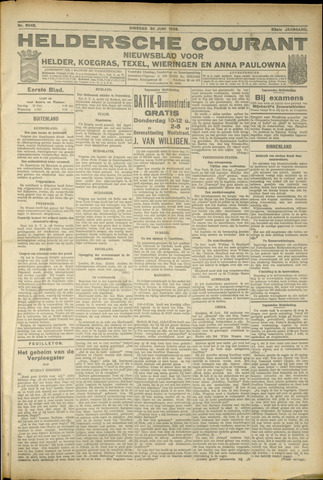 Heldersche Courant 1925-06-30