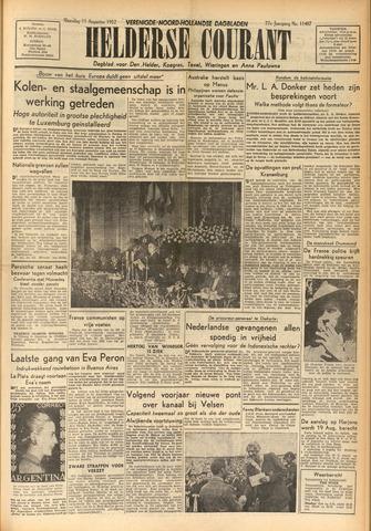 Heldersche Courant 1952-08-11