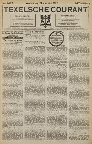 Texelsche Courant 1931-01-21