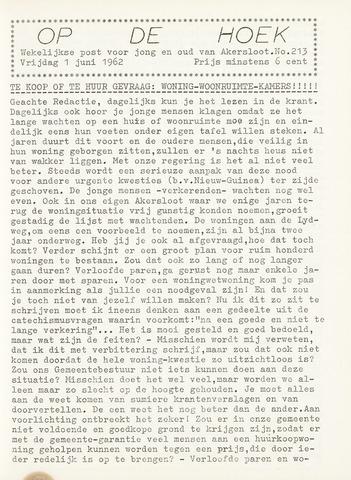Op De Hoek, weekblad voor Akersloot 1962-06-01