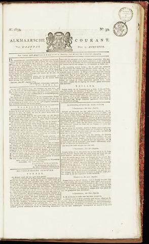 Alkmaarsche Courant 1834-08-11