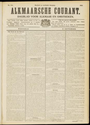Alkmaarsche Courant 1912-09-11