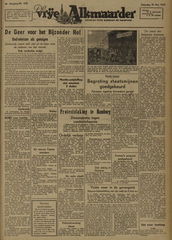 De Vrije Alkmaarder 1947-05-10