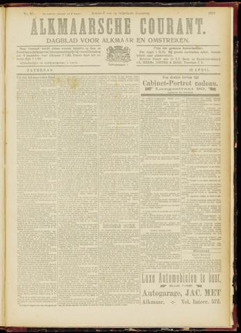 Alkmaarsche Courant 1919-04-12