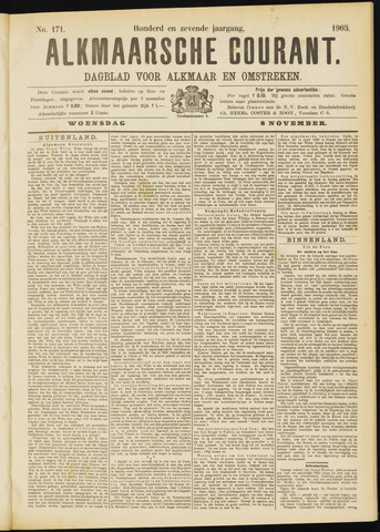 Alkmaarsche Courant 1905-11-08
